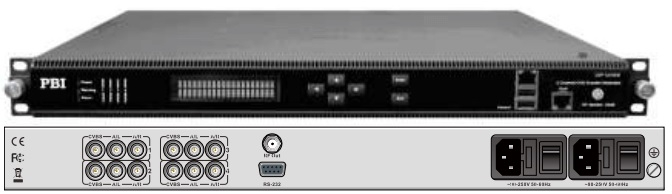 кодер 4xh.264-mpeg-2 sd-hd с 4-cvbs-ip-модулятор dvb-c - dxp-8000em-42cc pbi_1